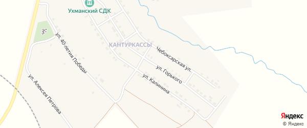 Улица Горького на карте села Ухманы с номерами домов
