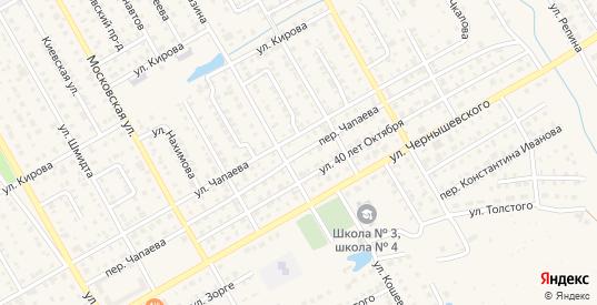Переулок Чапаева в Канаше с номерами домов на карте. Спутник и схема онлайн
