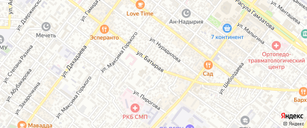 Батырая улица на карте Махачкалы с номерами домов