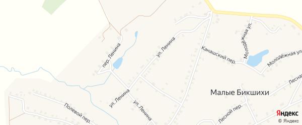 Улица Ленина на карте деревни Малые Бикшихи с номерами домов