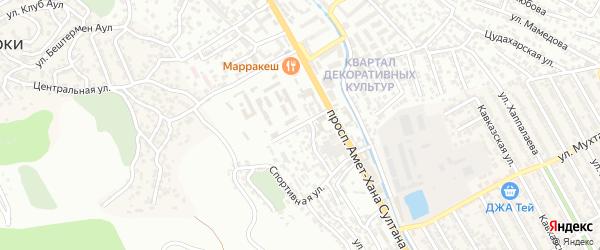Городская улица на карте поселка Тарки с номерами домов