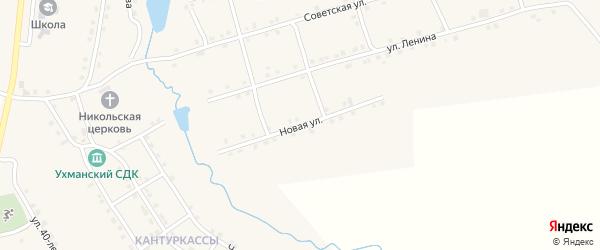 Новая улица на карте села Ухманы Чувашии с номерами домов