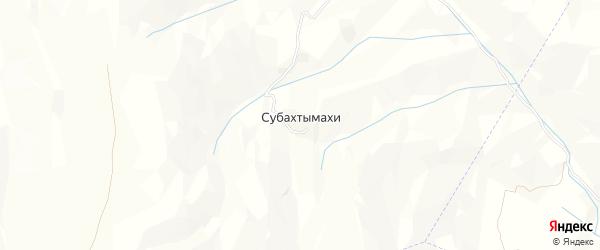 Карта хутора Субахтымахи в Дагестане с улицами и номерами домов