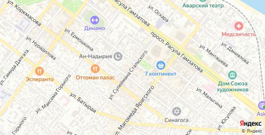 Улица С.Стальского в Махачкале с номерами домов на карте. Спутник и схема онлайн