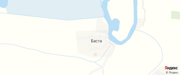 Улица Буденного на карте села Басты Астраханской области с номерами домов