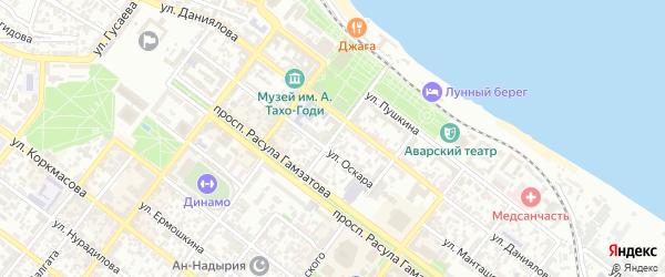 Улица Леваневского на карте Махачкалы с номерами домов