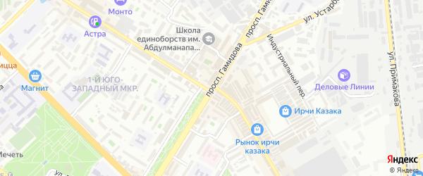 Улица Кирова на карте Степного поселка Дагестана с номерами домов
