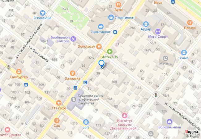 9d06fa400 улица Ярагского, 37 на карте-панораме Махачкалы, организации, фото ...