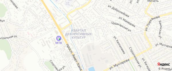 2-й Декоративный тупик на карте Махачкалы с номерами домов