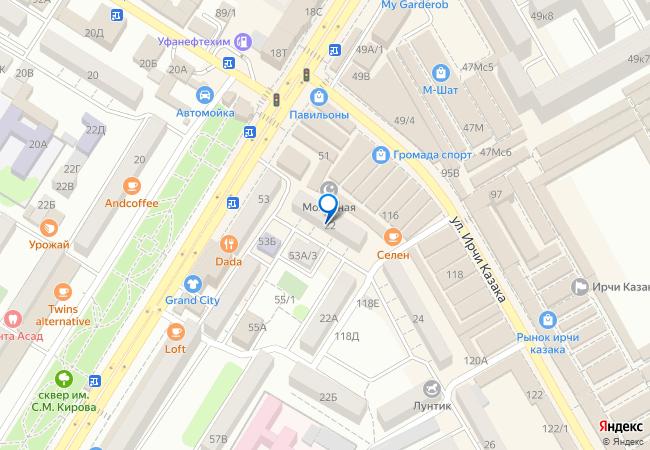 97c8d24ac улица Ирчи Казака, 22 на карте-панораме Махачкалы, организации ...