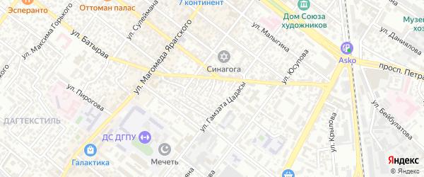Батырая 4-й тупик на карте Махачкалы с номерами домов