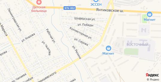 Улица Серова в Канаше с номерами домов на карте. Спутник и схема онлайн