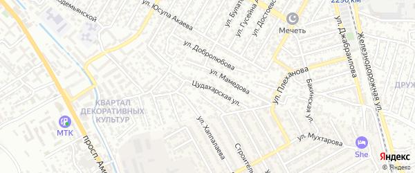 Цудахарская улица на карте Махачкалы с номерами домов