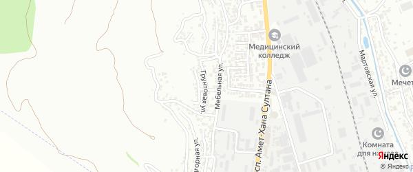 Грунтовая улица на карте поселка Тарки с номерами домов