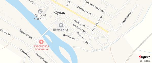 Советская улица на карте поселка Сулака с номерами домов