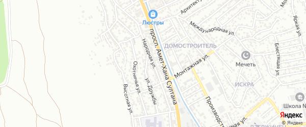Народная улица на карте поселка Тарки с номерами домов