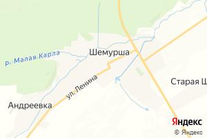 Карта с. Шемурша Чувашская Республика