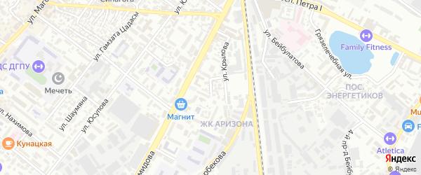 Переулок Крылова на карте Махачкалы с номерами домов