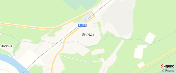 Карта железнодорожной станции Виледи в Архангельской области с улицами и номерами домов