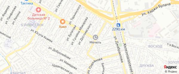 Ленинградская улица на карте Махачкалы с номерами домов