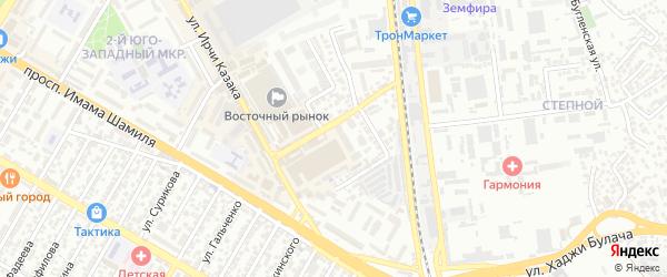 Сергокалинский 2-й тупик на карте Махачкалы с номерами домов