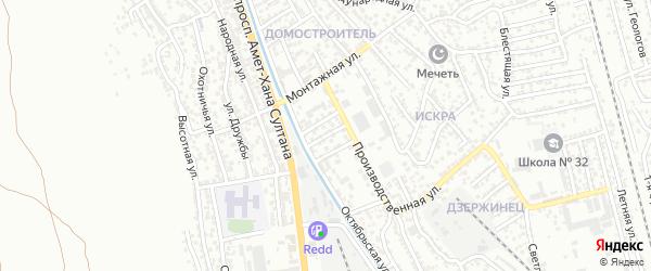 Амет-Хана Султана 2-й проезд на карте Махачкалы с номерами домов