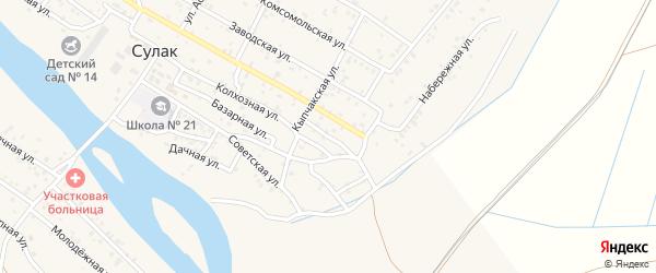 Улица 20 лет Октября на карте поселка Сулака с номерами домов