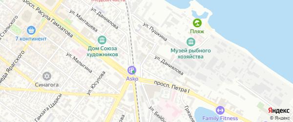 Проспект Петра 1 на карте Махачкалы с номерами домов