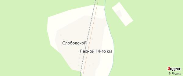 Лесная улица на карте поселка Лесной 14-го км с номерами домов
