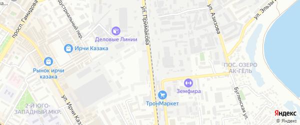 Улица Примакова на карте Махачкалы с номерами домов