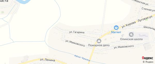 Улица Гагарина на карте Лесного села Астраханской области с номерами домов