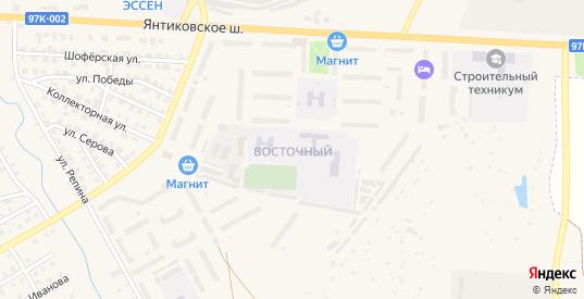 Восточный микрорайон в Канаше с номерами домов на карте. Спутник и схема онлайн