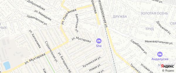 Тупик 2-й Мухтарова на карте Махачкалы с номерами домов