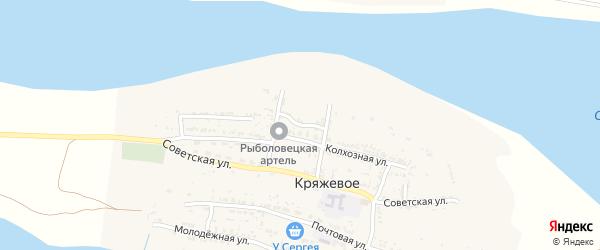 Речная улица на карте Кряжевого села Астраханской области с номерами домов