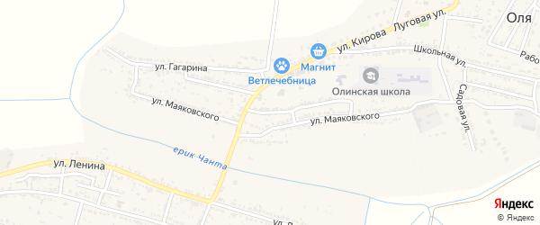 Улица Зои Космодемьянской на карте Лесного села Астраханской области с номерами домов