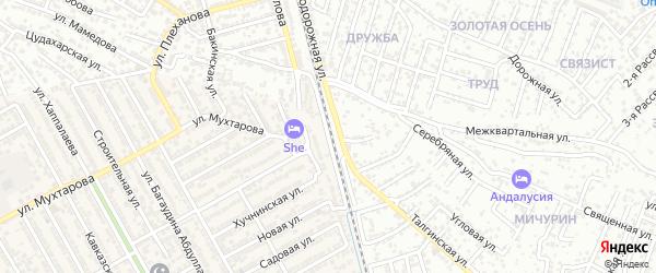 Проезд 2-й Джабраилова на карте Махачкалы с номерами домов
