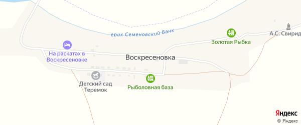 Южная улица на карте села Воскресеновки Астраханской области с номерами домов