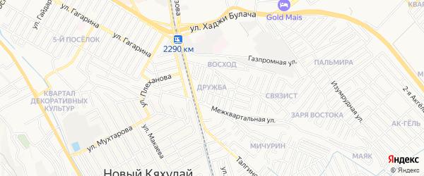 Квартал Дружба на карте Махачкалы с номерами домов