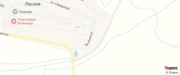 Зеленая улица на карте Лесного села Астраханской области с номерами домов