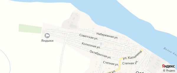 Советская улица на карте села Оли Астраханской области с номерами домов