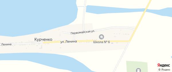 Участок Сады на карте села Курченко Астраханской области с номерами домов