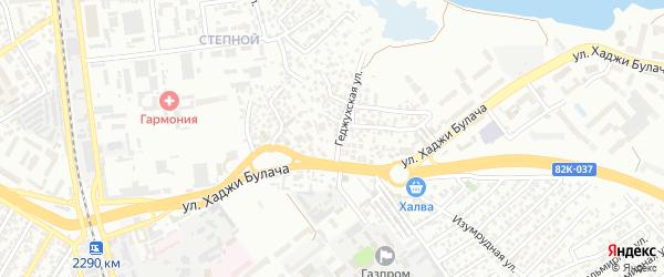 Тупик 3-й Хаджи Булача на карте Махачкалы с номерами домов