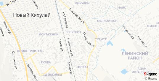 Карта микрорайона М-4 приморского жилого района в Махачкале с улицами, домами и почтовыми отделениями со спутника онлайн