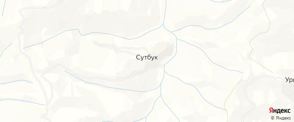 Карта села Сутбука в Дагестане с улицами и номерами домов