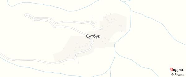 Мирная улица на карте села Сутбука с номерами домов