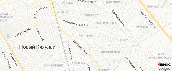 Квартал Мичурин на карте Махачкалы с номерами домов