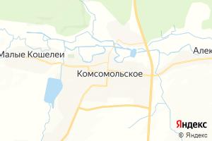 Карта с. Комсомольское