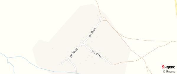 Улица Яхха на карте деревни Большое Тугаево с номерами домов