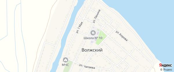 Улица Ленина на карте Волжского поселка Астраханской области с номерами домов
