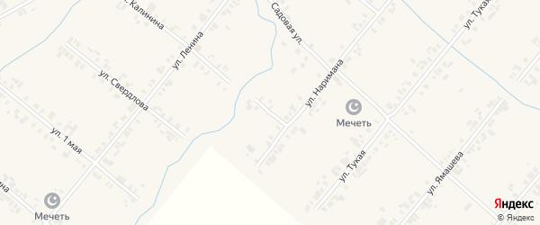 Переулок ДОСААФ на карте села Шыгырдана с номерами домов